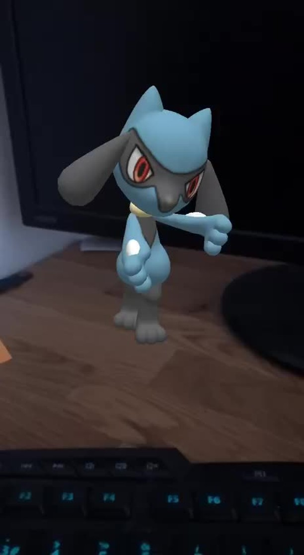 Instagram filter Dancing Riolu