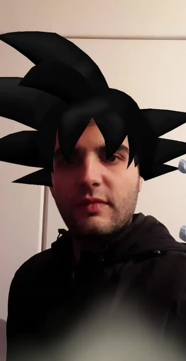 Instagram filter Super Saiyan