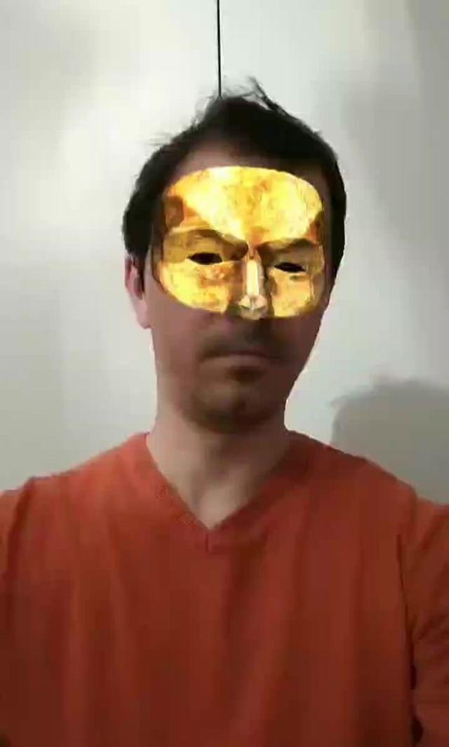 Instagram filter Golden Mask
