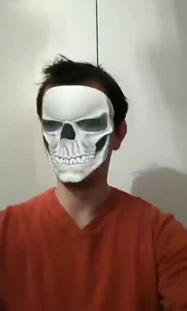 Instagram filter Skeleton Face