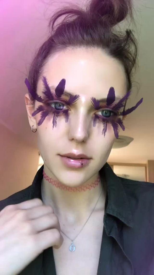 olgakhatkovskaya Instagram filter Feather eyelashes