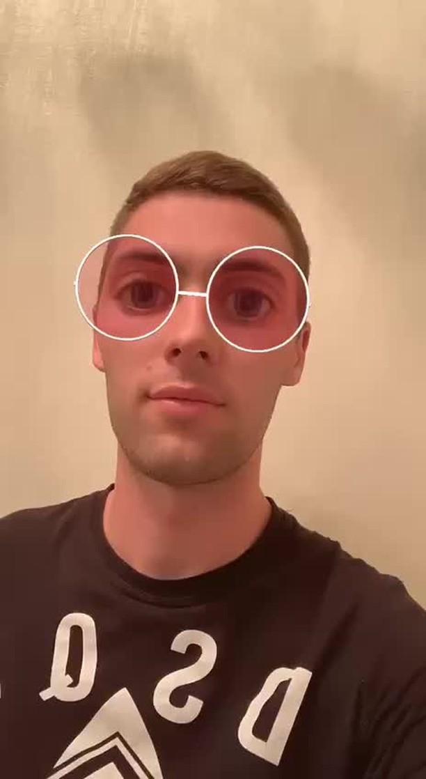 Instagram filter Big-eyed glasses