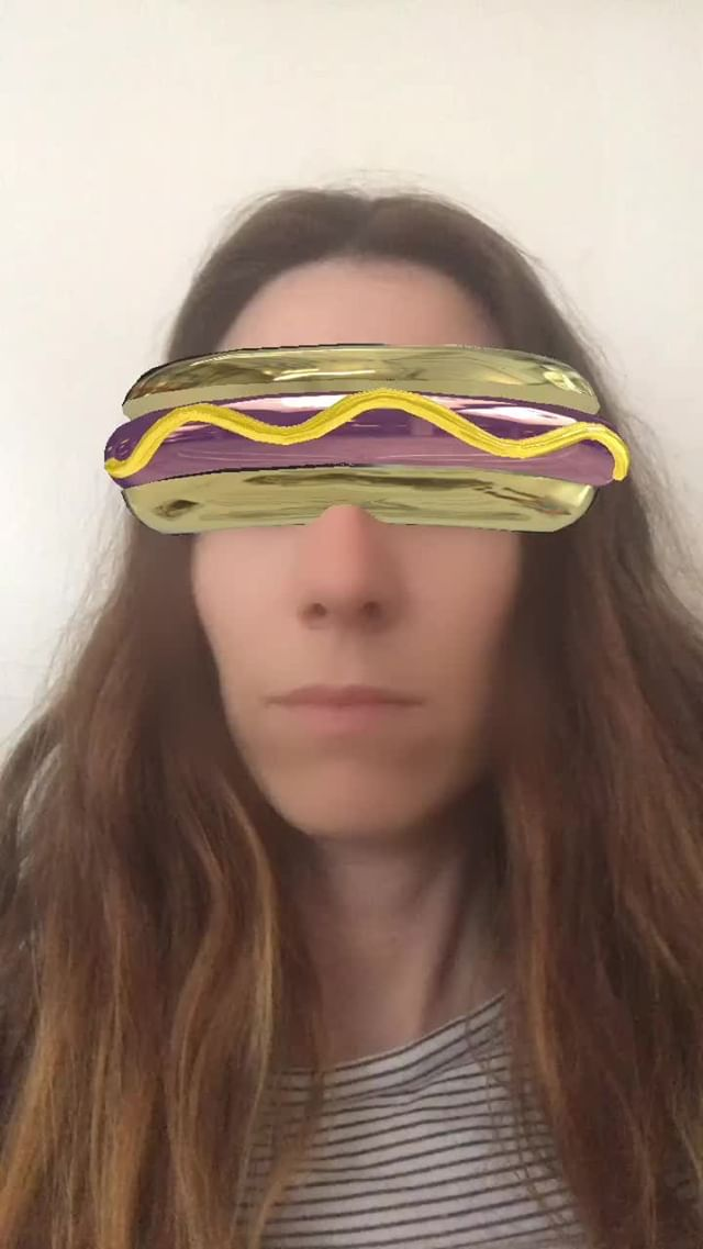 Instagram filter hotdog visor