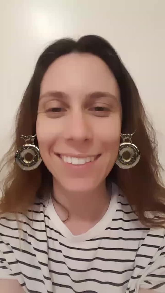 Instagram filter GoldDonut Earrings