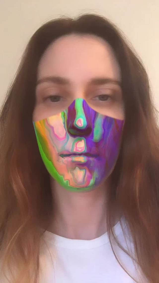 Instagram filter rainbow mask