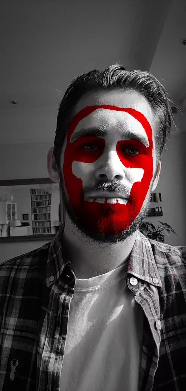 Instagram filter Red Skull
