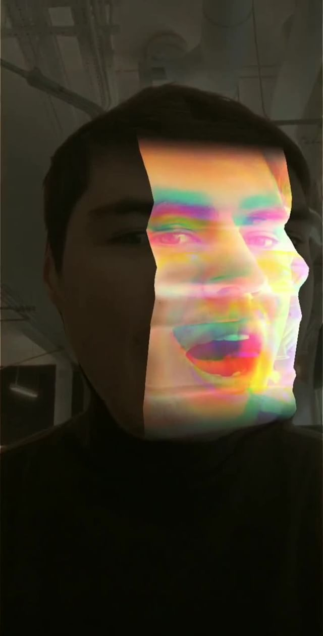 Instagram filter Face split