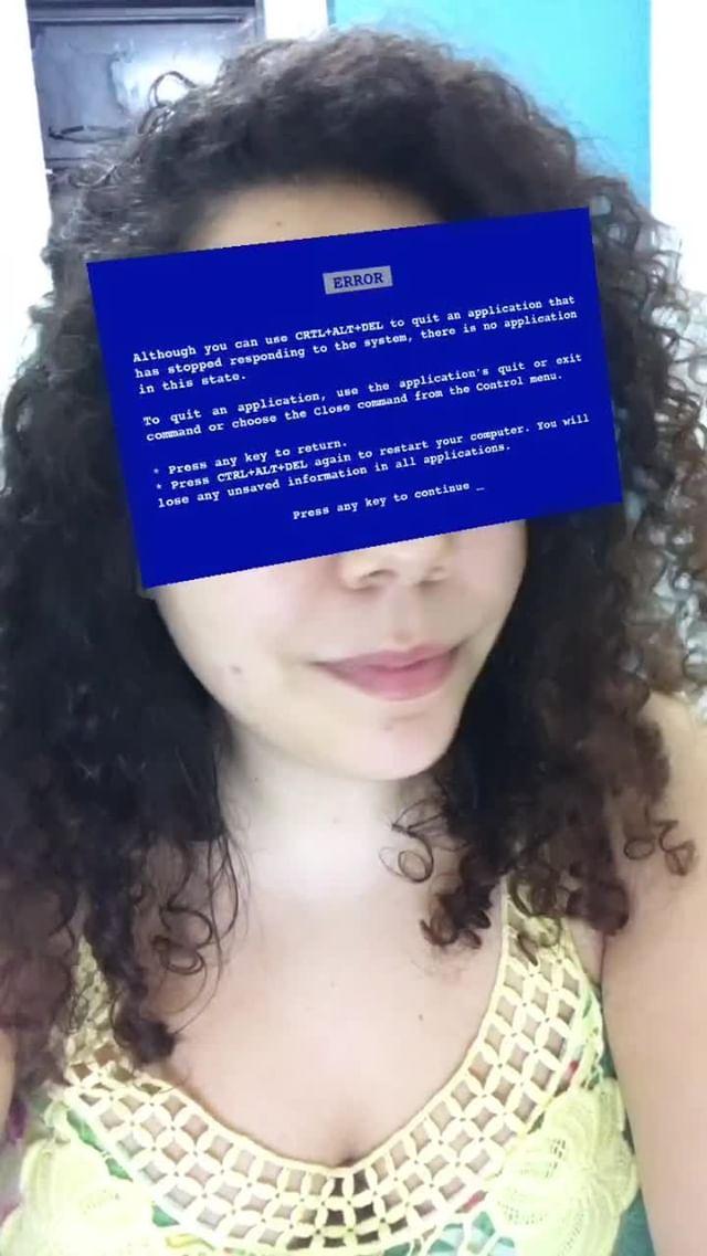 Instagram filter tela azul