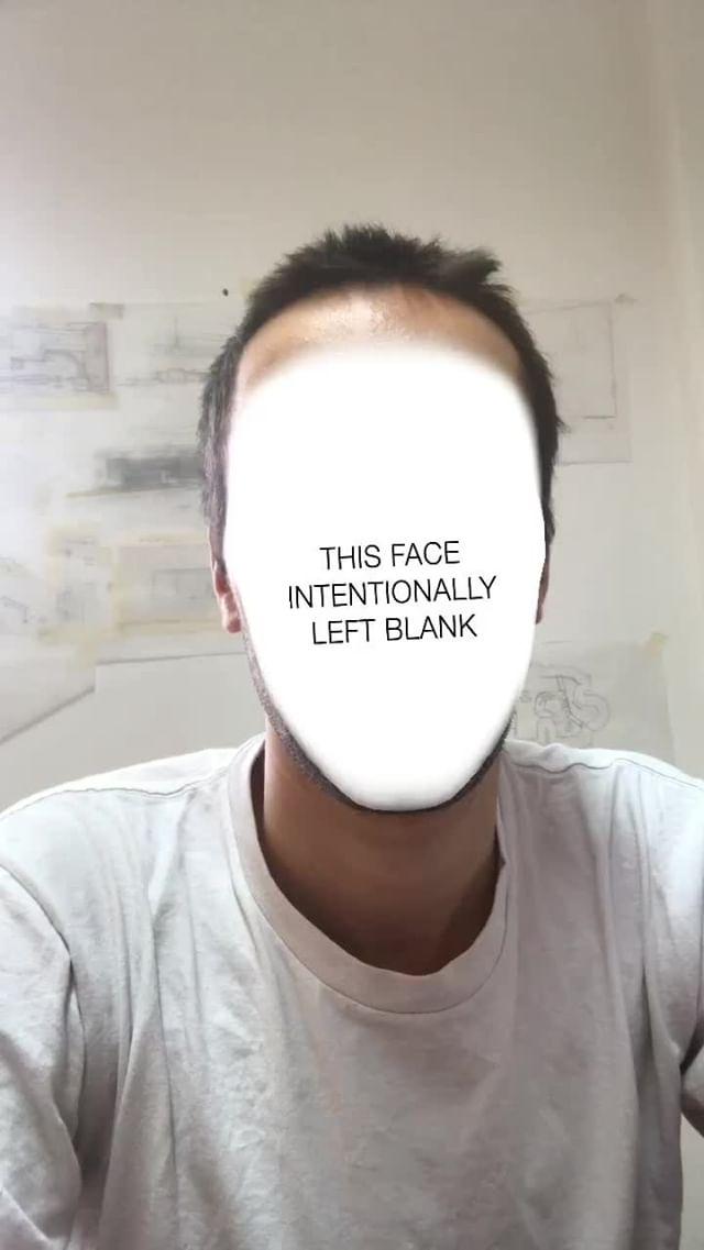 Instagram filter Intentionally Blank