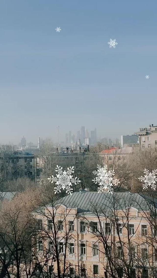 Instagram filter let it snow