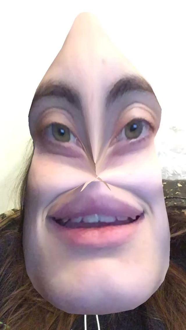 Instagram filter conehead