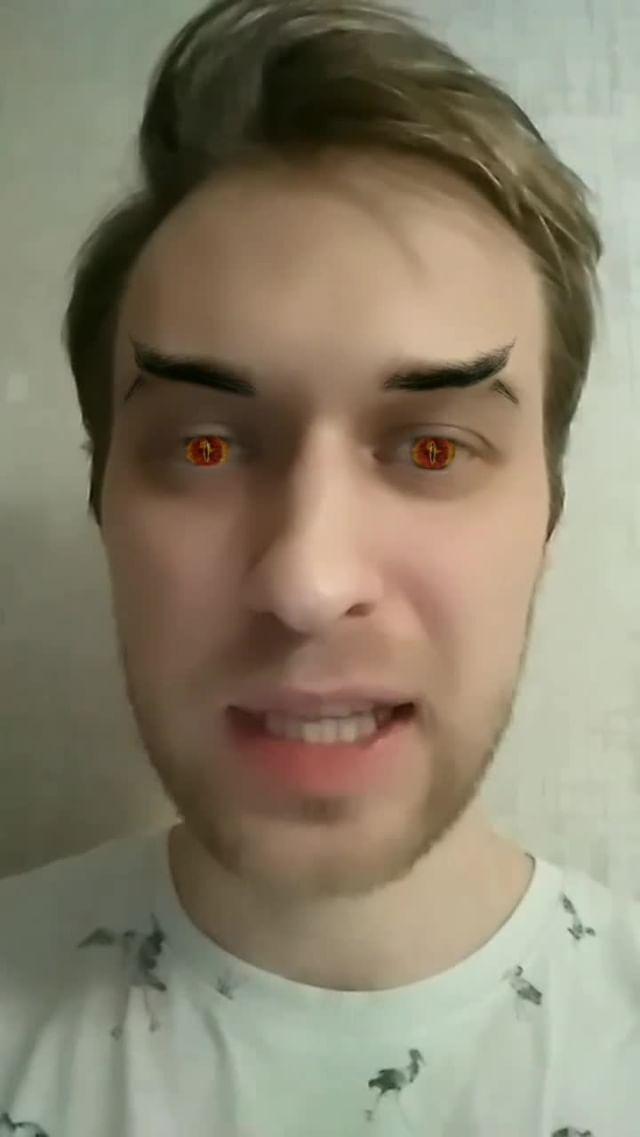 Instagram filter брови дьявола