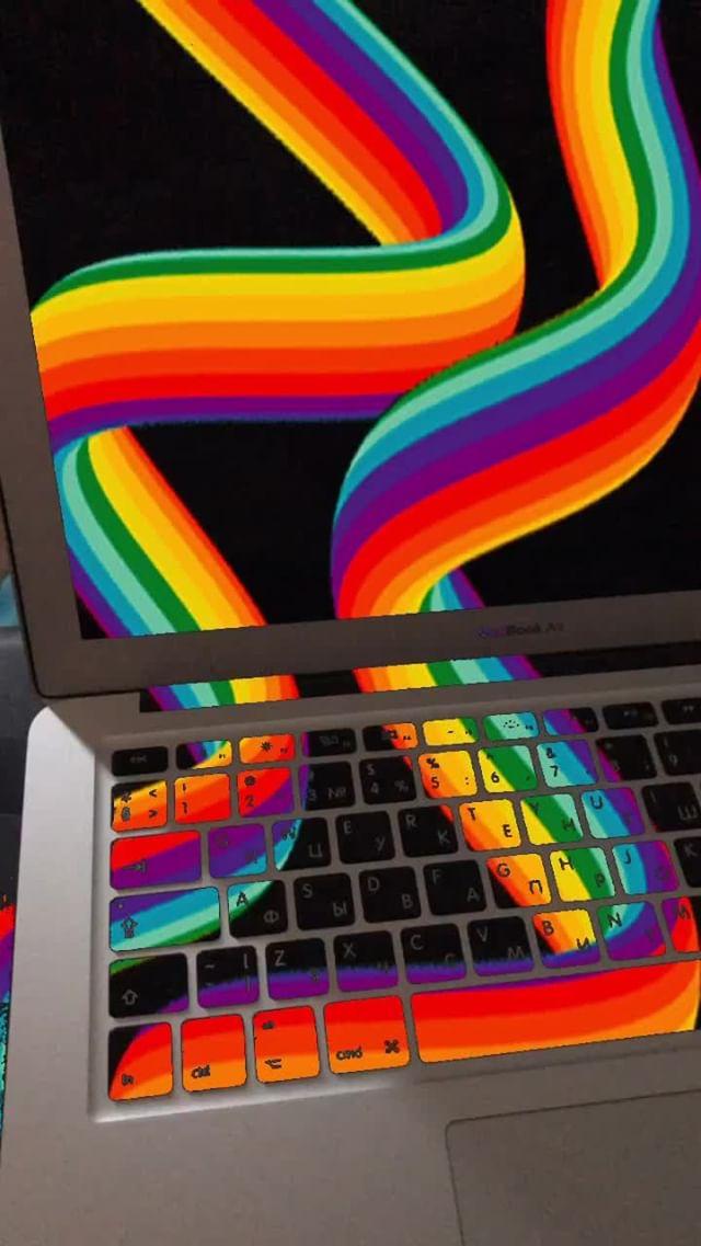 Instagram filter Rainbow on black