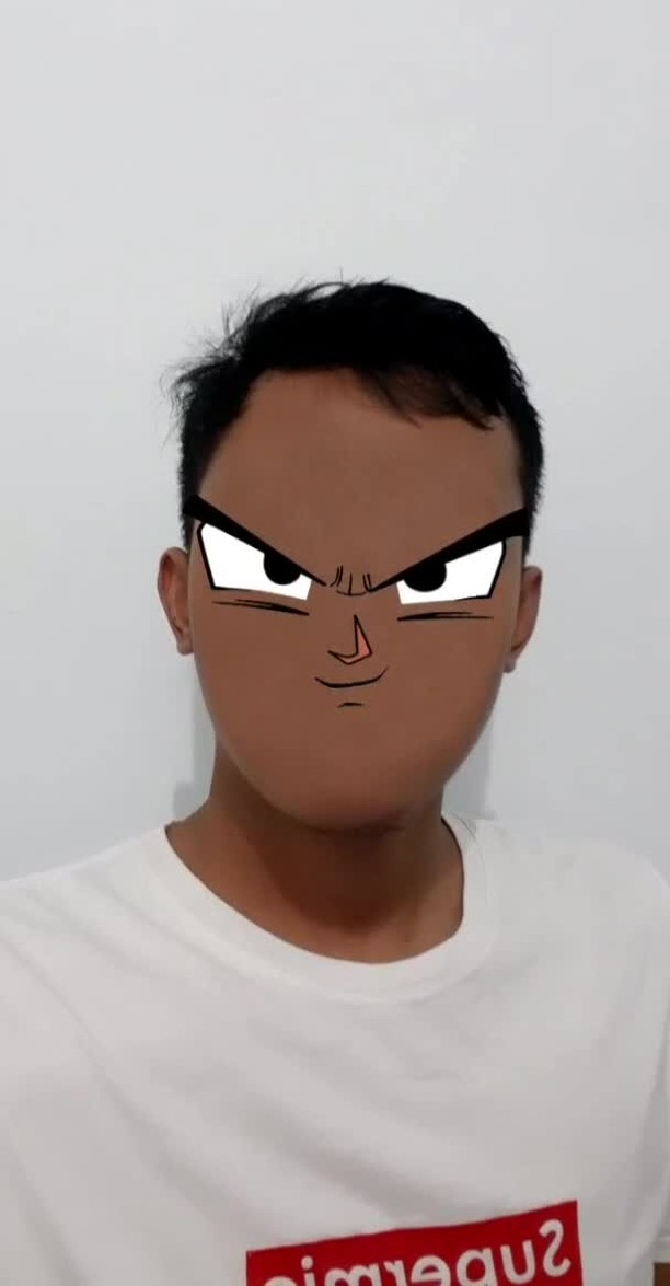 Instagram filter GokuFace