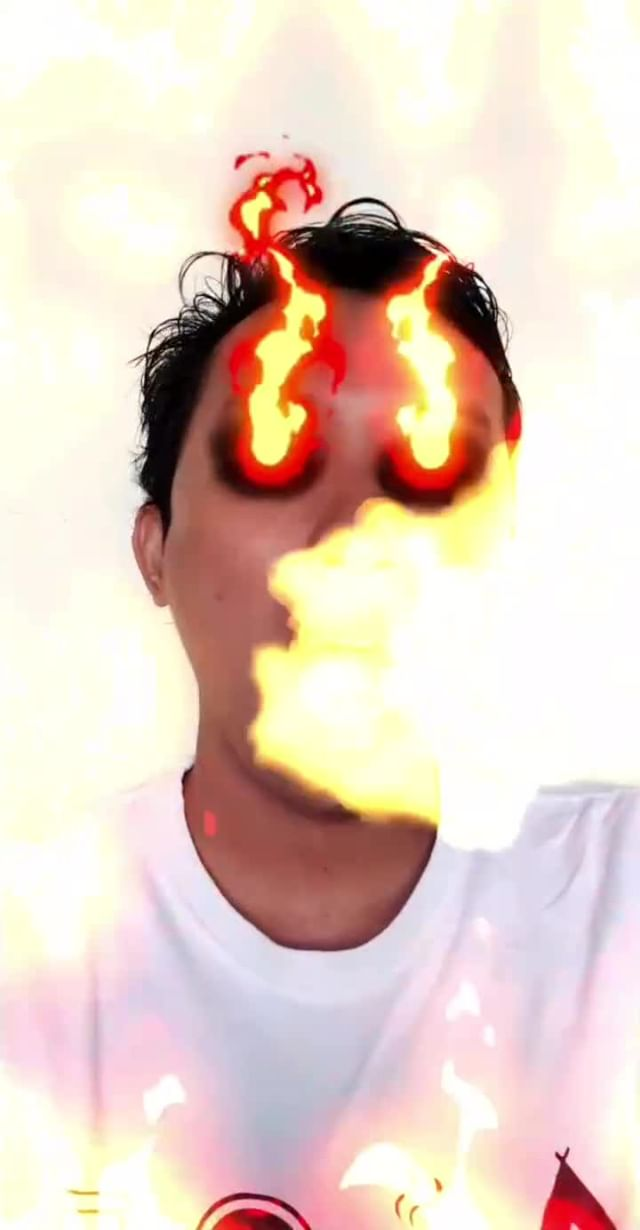 Instagram filter Fire Breath