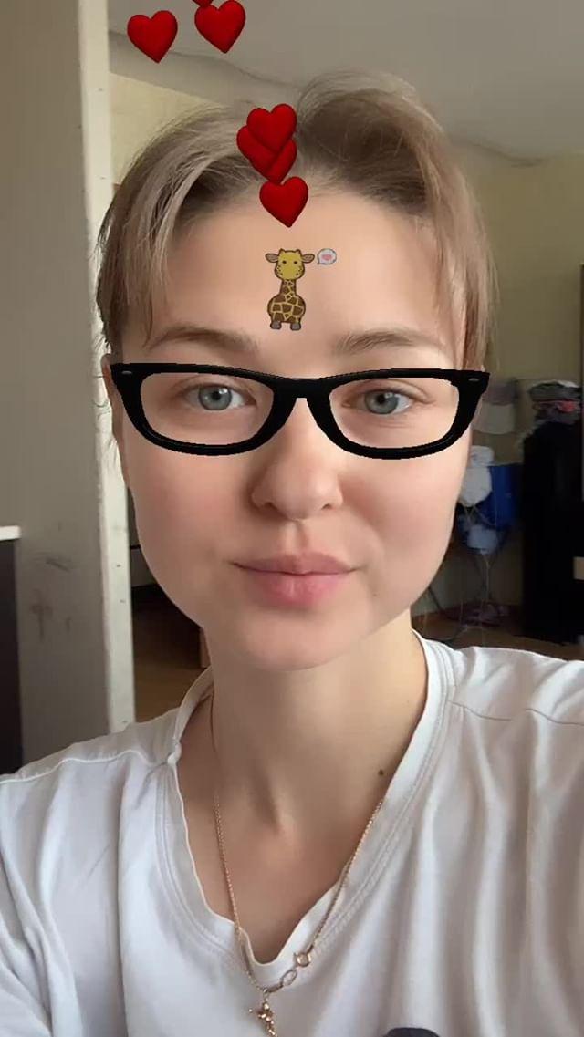 Instagram filter влюбленный жираф