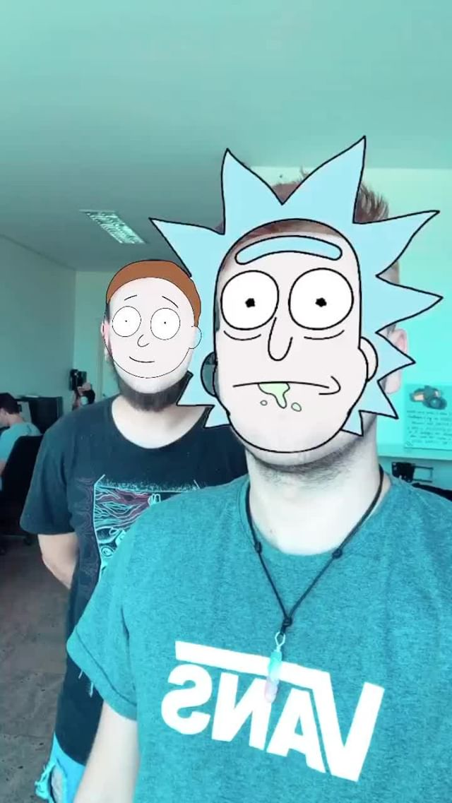 Instagram filter RICK AND MORTY