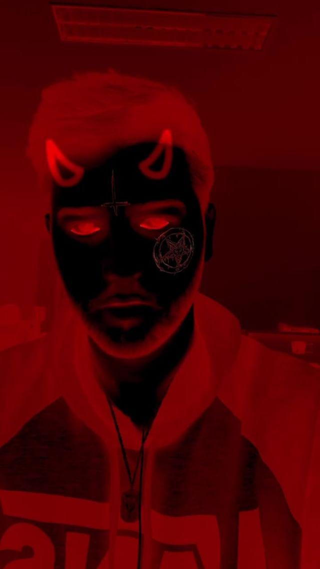 Instagram filter Demon face hell