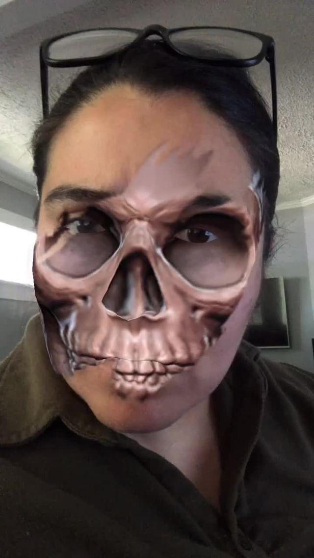 Instagram filter SkullFace