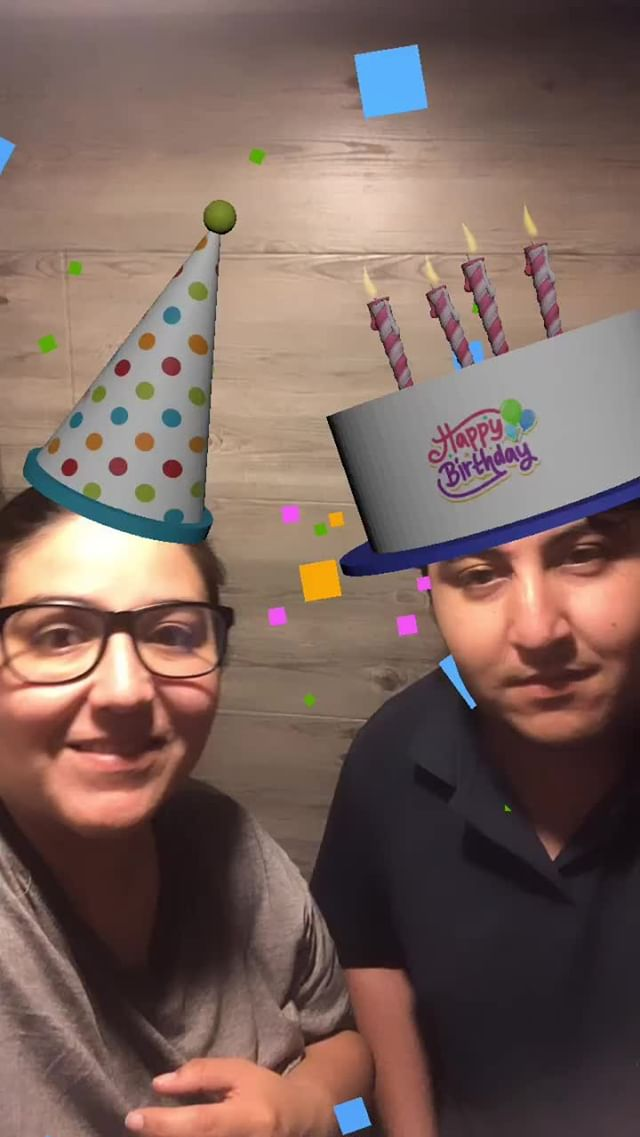 Instagram filter Happy Birthday