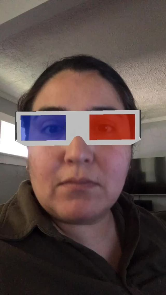 Instagram filter 3D Glasses
