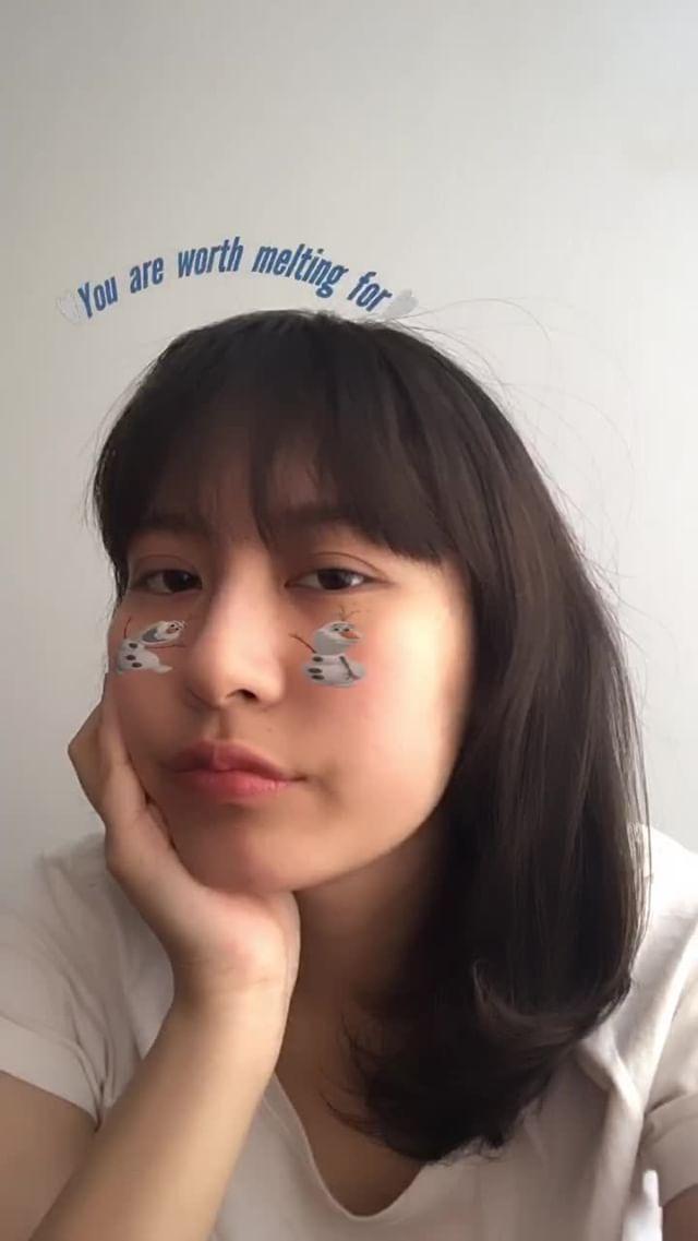 Instagram filter melting Olaf