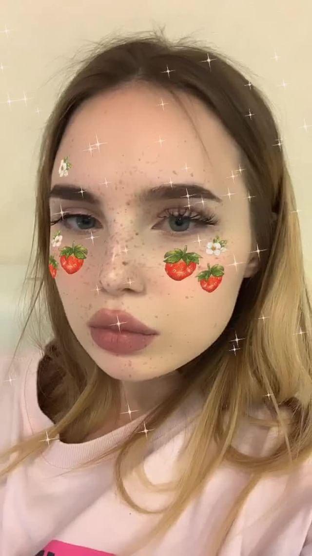 Instagram filter клубника