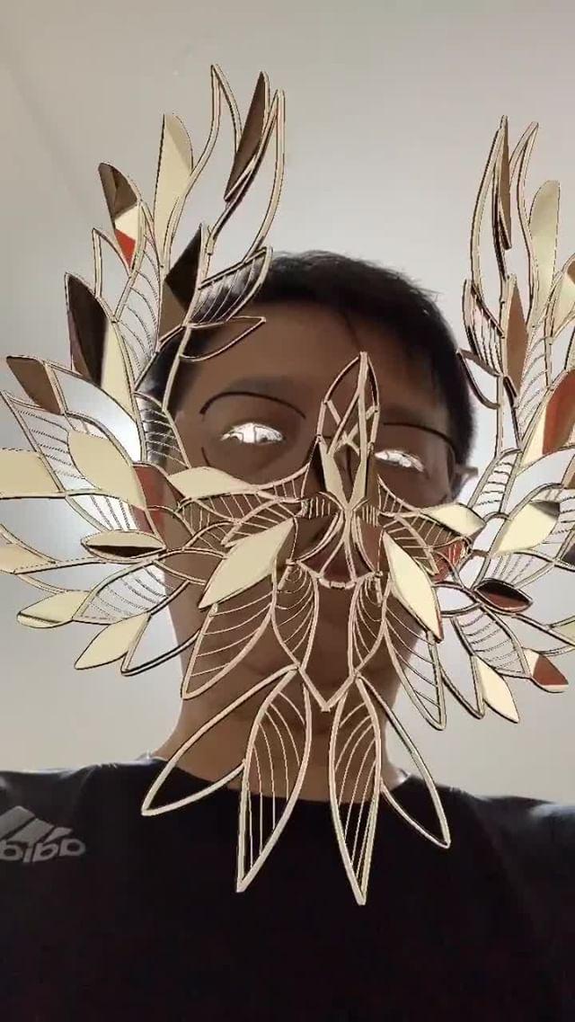 chungcy Instagram filter Gold Bird Mask