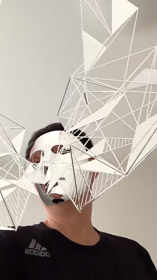 Instagram filter Geometric SilverMask