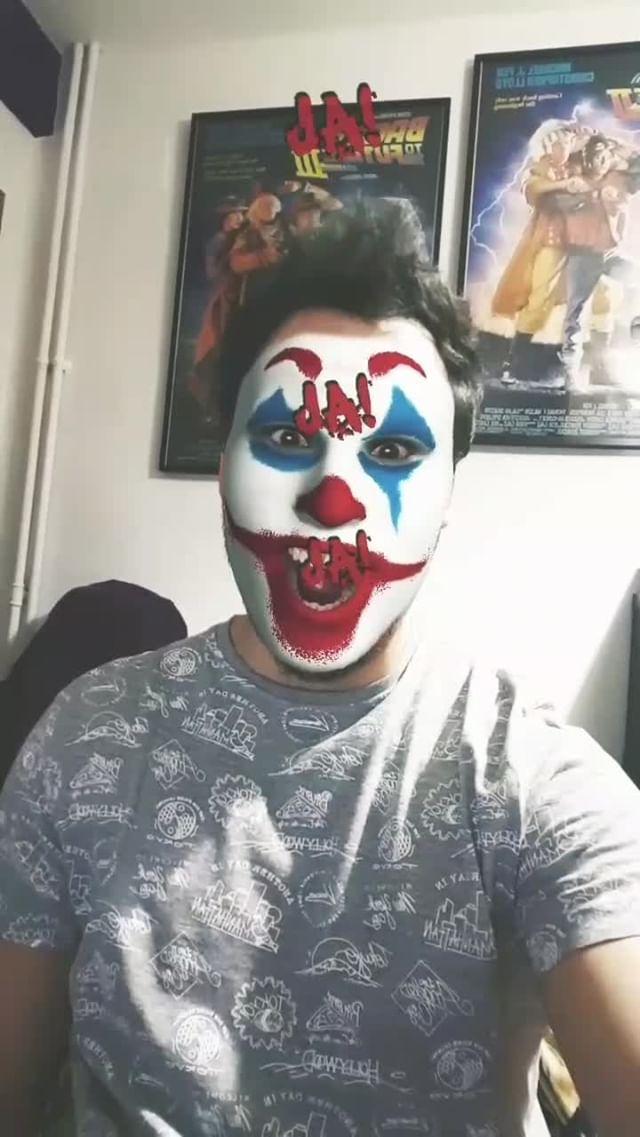 Instagram filter Joker Mask
