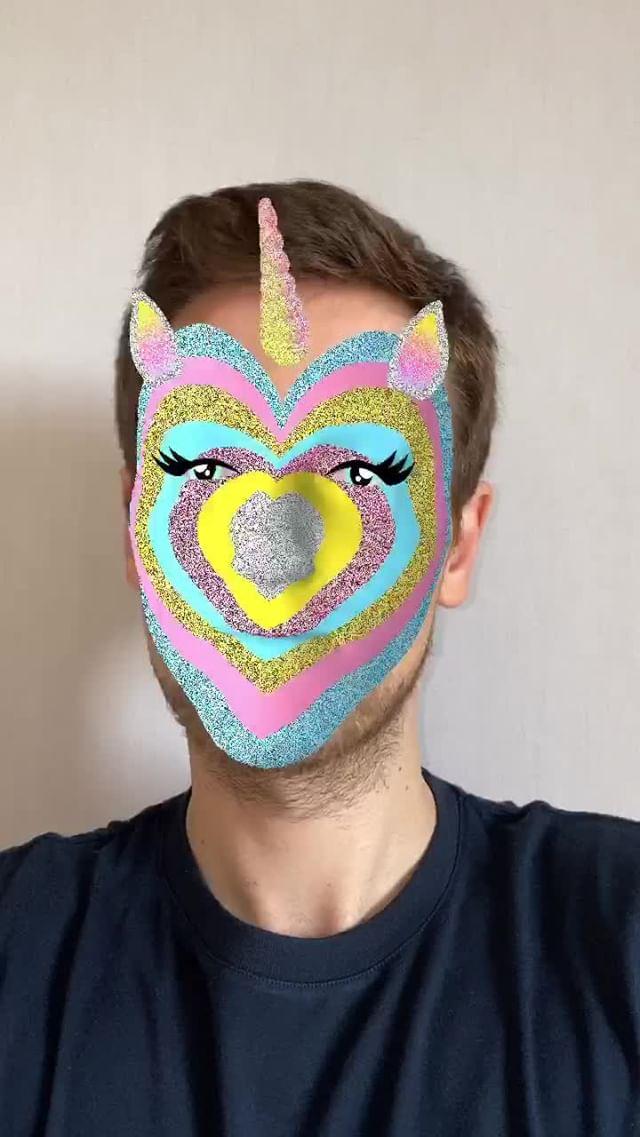Instagram filter Sparkling Unicorn