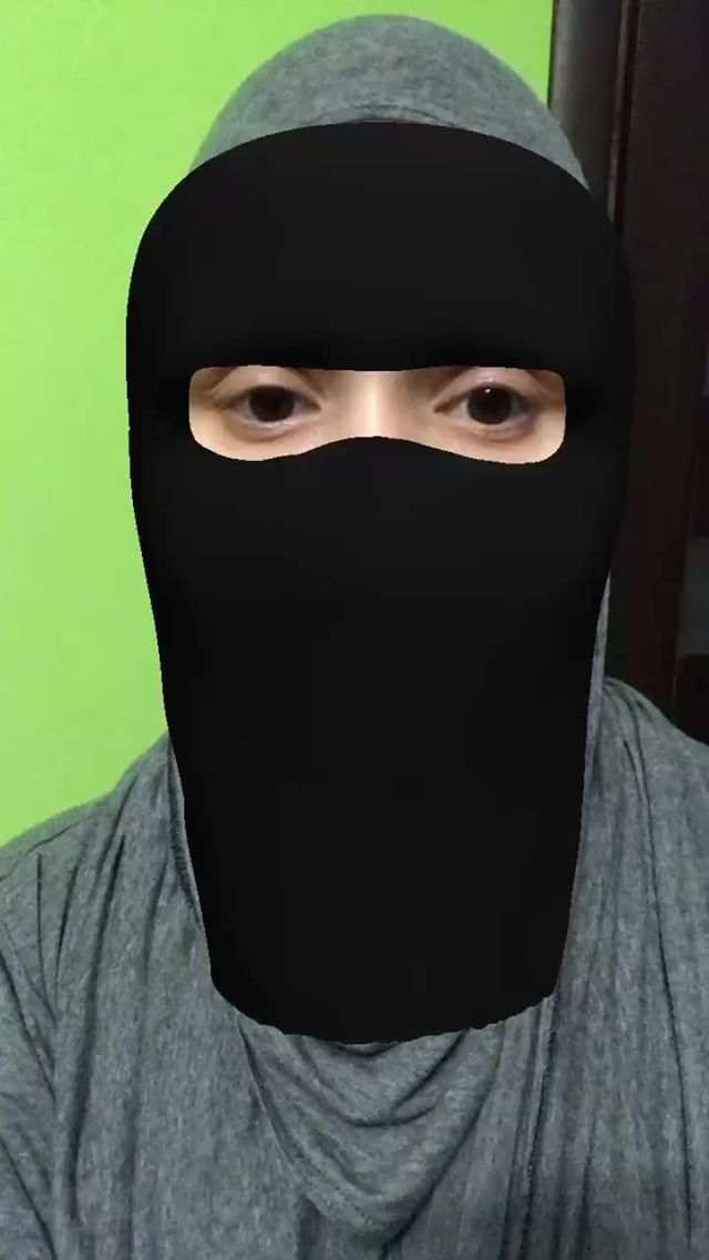 Instagram filter Niqab