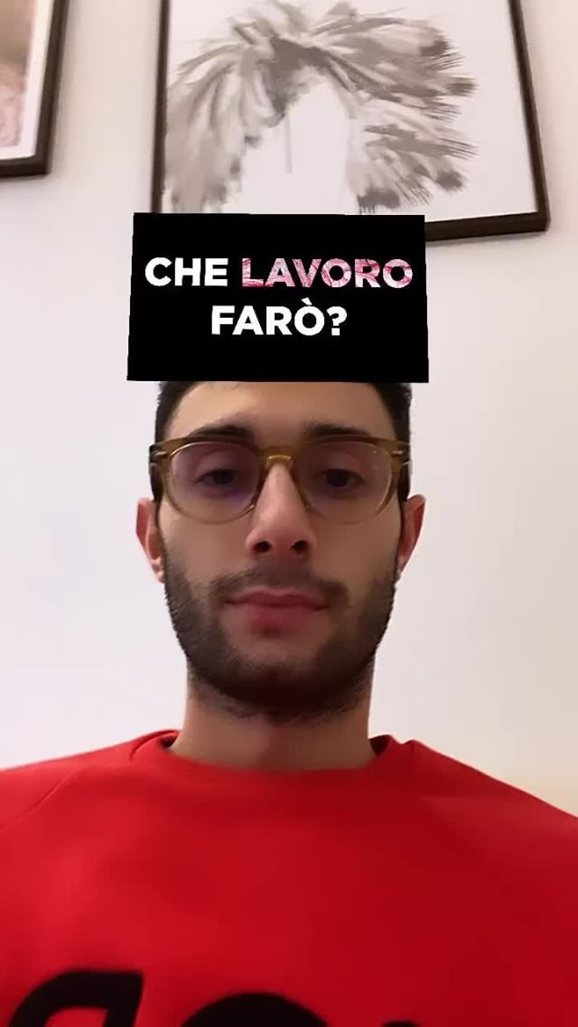 Instagram filter QUALE JOB FARÒ?
