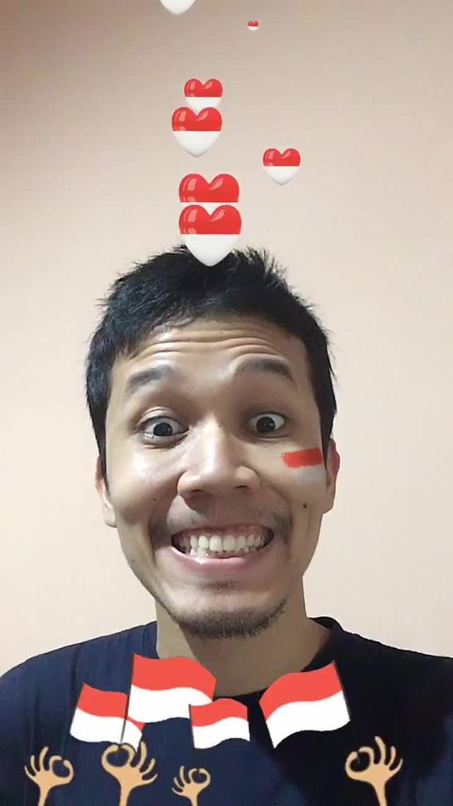 Instagram filter Bendera Indonesia