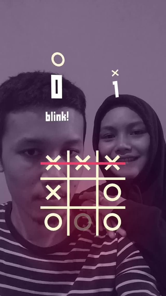 Instagram filter Tic-Tac-Toe