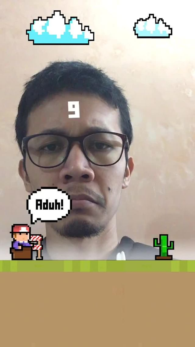 Instagram filter Balap Karung
