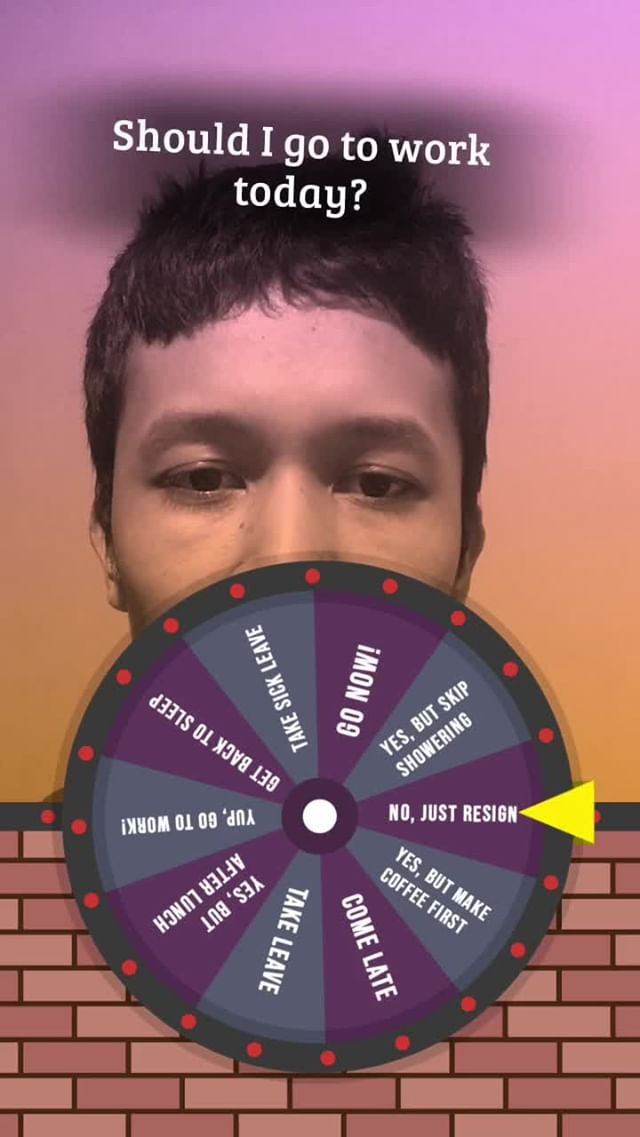 Instagram filter Wheely Wonka