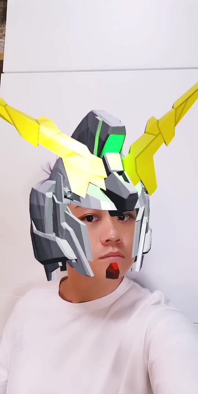 Instagram filter Gundam Unicorn