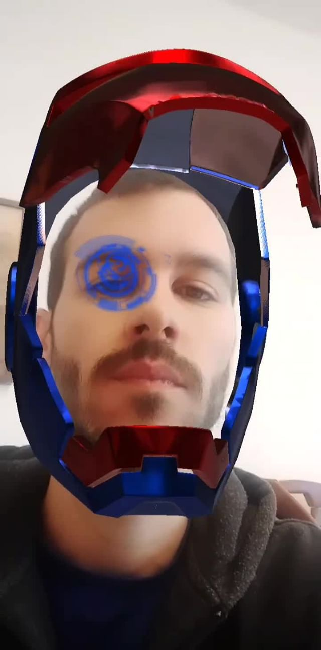 Instagram filter Iron Man Helmet
