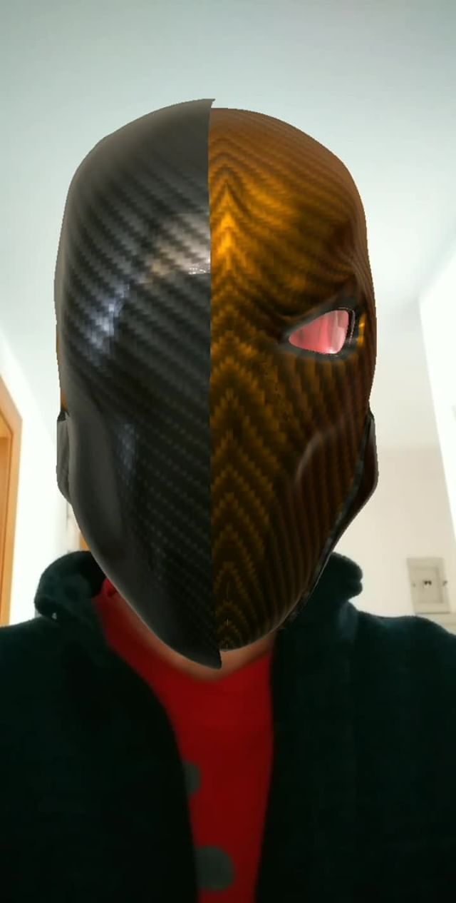 Instagram filter Deathstroke Helmet