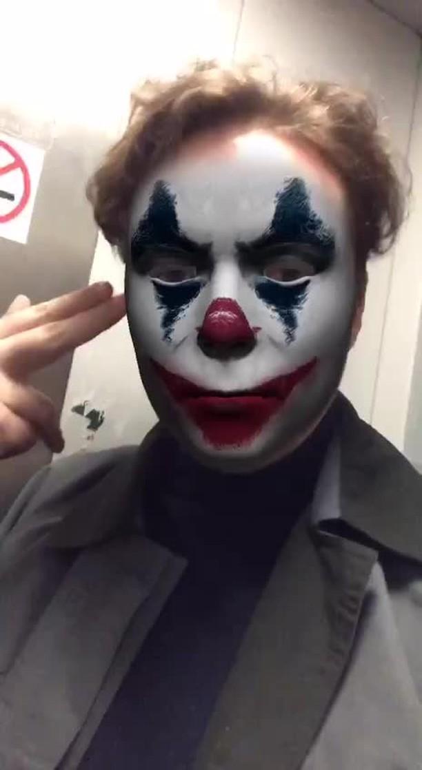 Instagram filter Joker