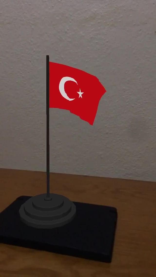 Instagram filter  Turkish Flag 3D