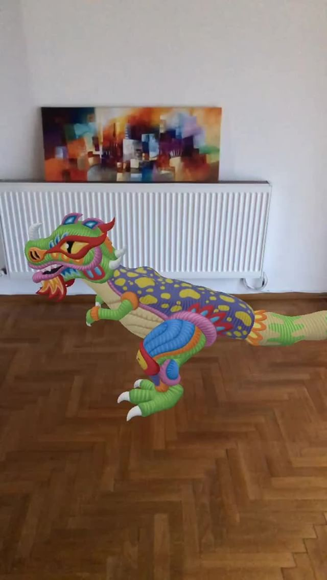 Instagram filter Cute Dino