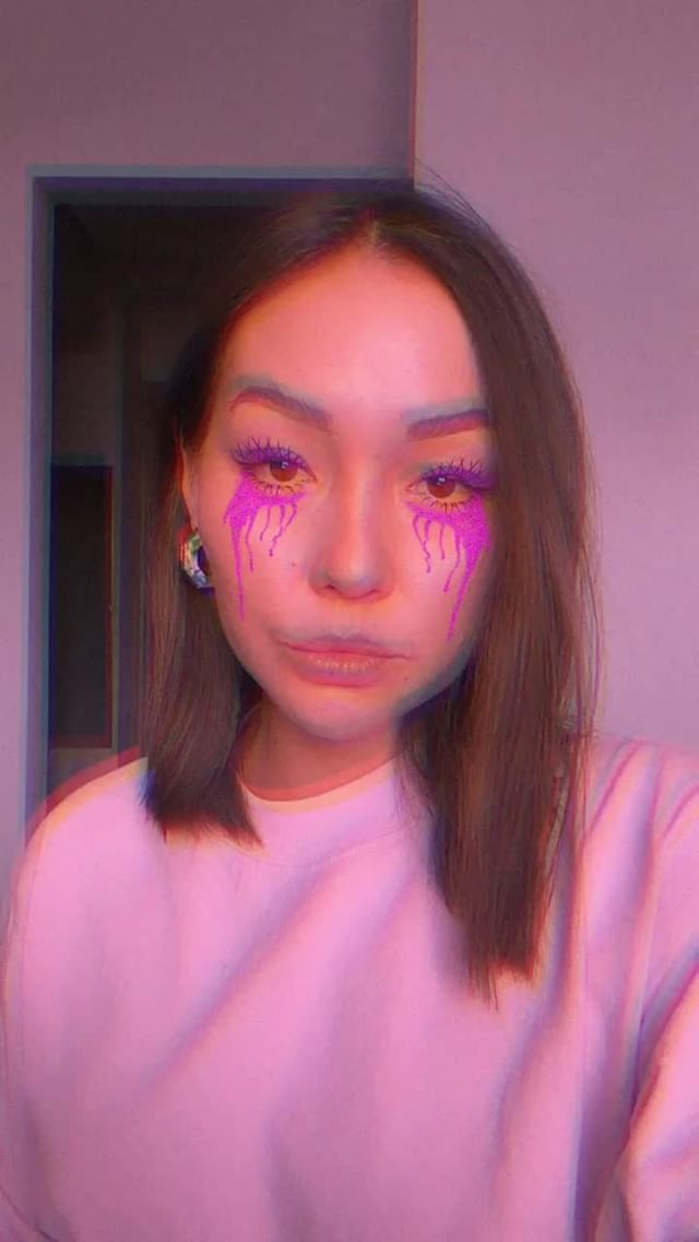 Instagram filter Purple tears