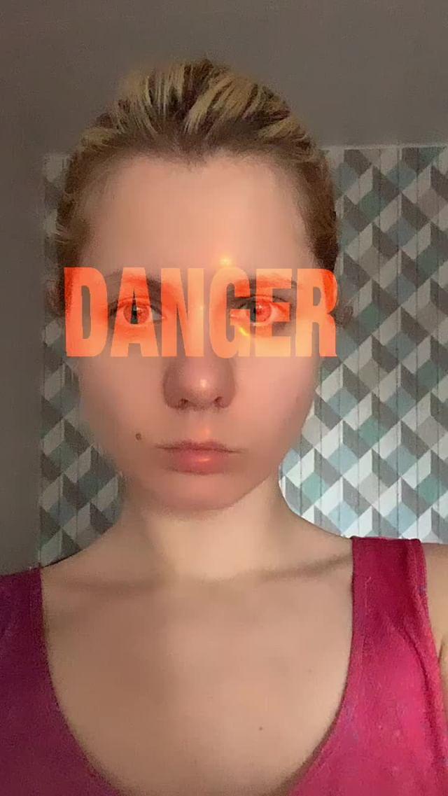 Instagram filter Danger