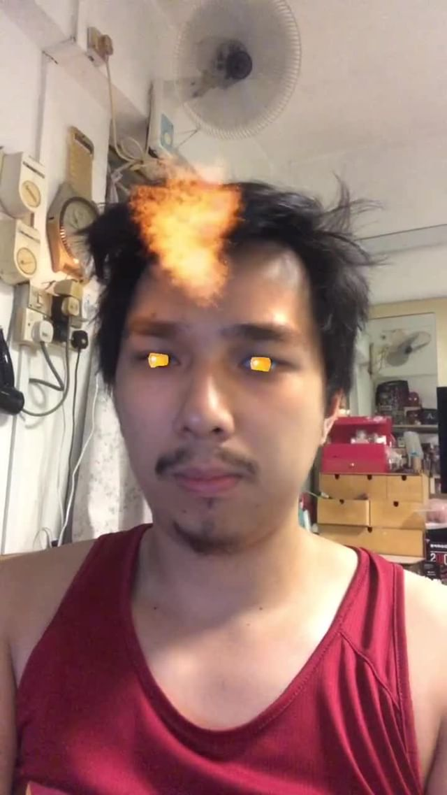 Instagram filter DYING FLAME