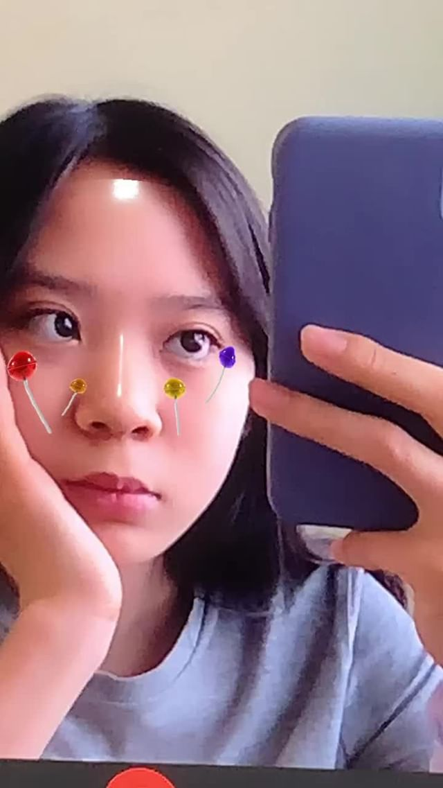 Instagram filter Candies on your face