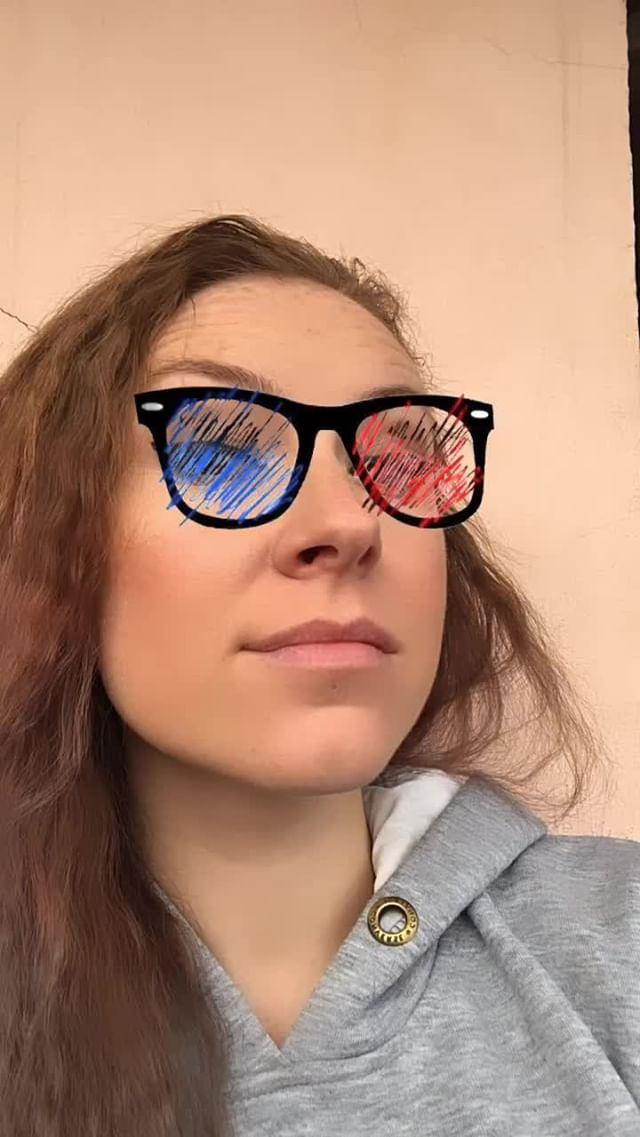 natachaborisovnna Instagram filter blue-red glasses