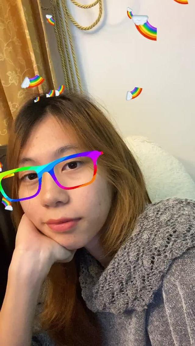 Instagram filter rainbow glasses