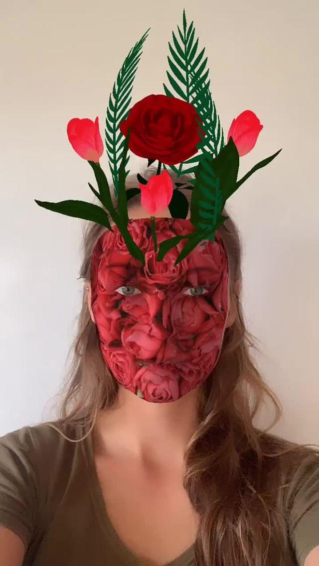Instagram filter Flowerface